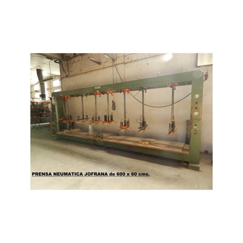 Press JOFRANA of 600 x 60 CMS NEUMATICA