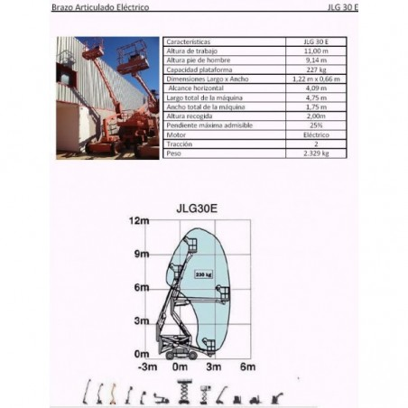 BRAZO ARTIC ELÉCTRICO, 30 E, 11. 5 M. JLG